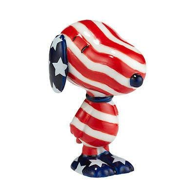 Dept 56 Peanuts Snoopy By Design Patriotic Pup #4030860 NIB FREE SHIP 48 STATES