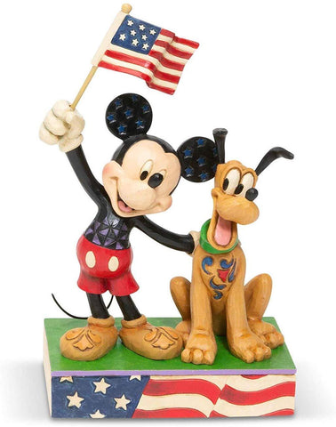 Disney Traditions Mickey and Pluto Patriotic 6005975  Free Shipping 48 States 2019