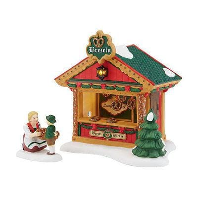 Dept 56 Alpine 2014 Christmas Market Pretzel Booth #4042389 NIB FREE SHIP OFFER