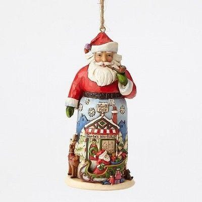 Jim Shore Hwc 2016 Santa With Sleigh Reindeer Ornament 4055121 Free Delectable Collectibles Inc
