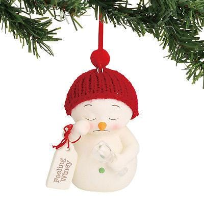 Dept 56 Snowpinions 2018 Feeling Winey Ornament #6000918 NEW FREE SHIP 48 STATES   2018