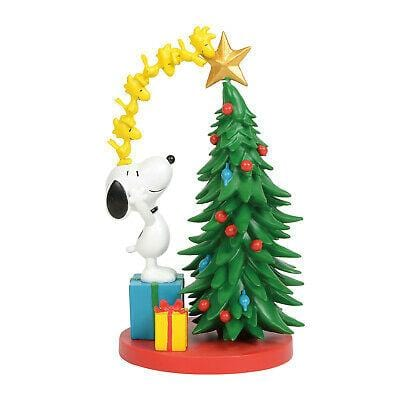 Jim Shore Peanuts 2019 Snoopy Decorating The Tree #6011084 Free Shipping 48 States 2019