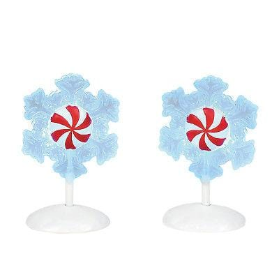 Dept 56 2018 Lit Peppermint Snowflakes #6001712    FREE SHIPPING 48 STATES   2018