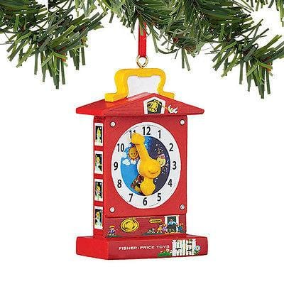 Dept 56 2015 Fisher Price Teaching Clock Ornament #4045020 NEW FREE SHIP 48 STAT