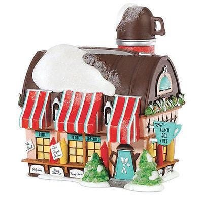 Dept 56 North Pole The Lunch Box Café #805543 FREE SHIPPING 48 STATES