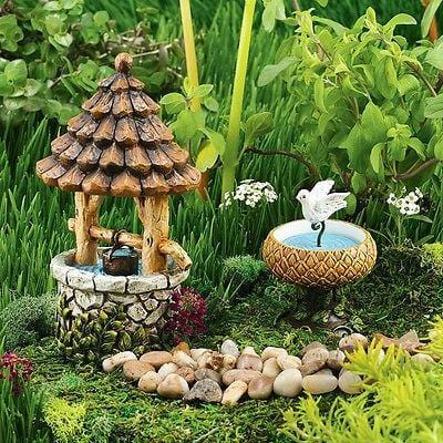 Dept 56 Garden 2015 arden Birdbath & Well #4051198 NEW FREE SHIPPING 48 STATES