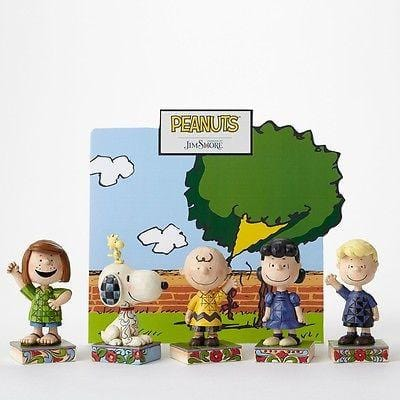 Jim Shore Peanuts 2015 Charlie Brown Personality Pose Set/6 NIB FREE SHIP 48 STA