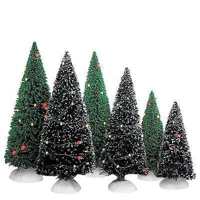 Dept 56 Twinkling Lit Trees (Dark Green Set/3) #52823 FREE SHIPPING OFFER