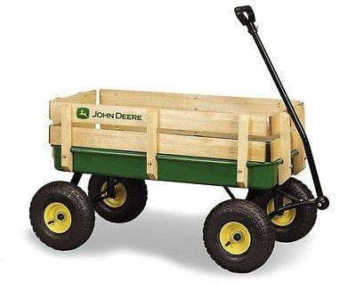 "Ertl John Deere 36"" Steel Wagon w/Wood Stakes Pneumatic Tires NEW FREESHIP 48 ST"