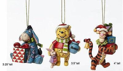 Jim Shore Disney Traditions 2015 Winnie The Pooh Ornaments Set/3 #4046063 NIB