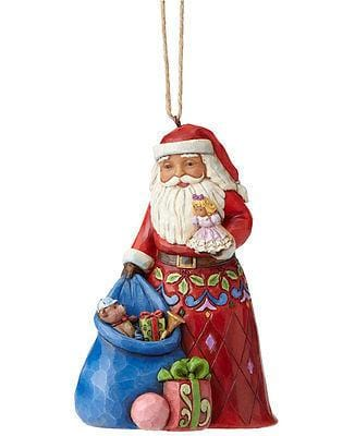 Jim Shore HWC 2016 Santa w/Toy Bag Ornament #4055122    FREE SHIPPING 48 STATES