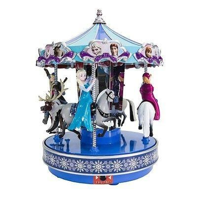 "Mr. Christmas Disney Frozen Carousel 9.5"" Tall #11851 NIB FREE SHIP 48 STATES"