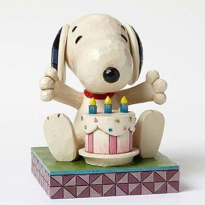 Jim Shore Peanuts 2015 Snoopy w/Birthday Cake #4049417 NIB FREE SHIP 48 STATES