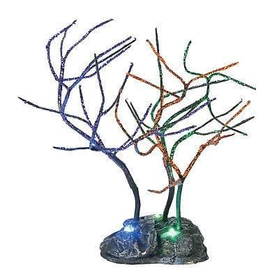 Dept 56 Halloween 2018 Lit Spooky Sparkle Trees #6001755 NEW FREE SHIP 48 STATES   2018