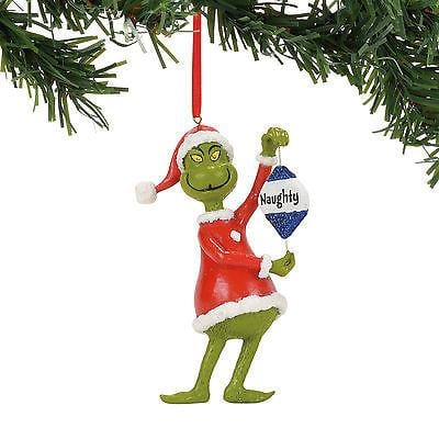Dept 56 Grinch 2017 Naughty Or NIce Ornament #4057457     FREE SHIPPING 48 STATE