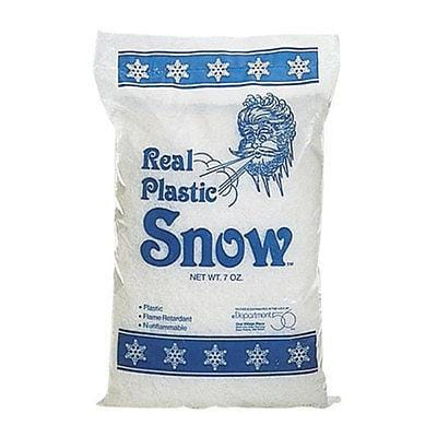 Dept 56 Real Plastic Snow 7oz #49981 NEW FREE SHIPPING 48 STATES