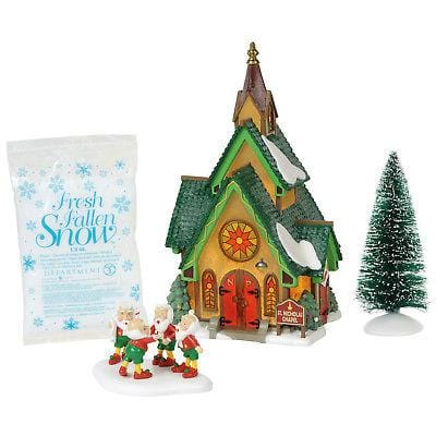 Dept 56 North Pole 2018 St. Nicholas Chapel  Kit #6000616       Free Shipping 48 States    2018