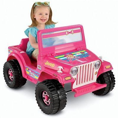 6v Power Wheels Barbie Jeep Wrangler NEW CLEARANCE