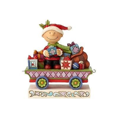 Jim Shore Peanuts 2018 Charlie Brown Christmas Train Car #6000988 NIB FREE SHIP    2018