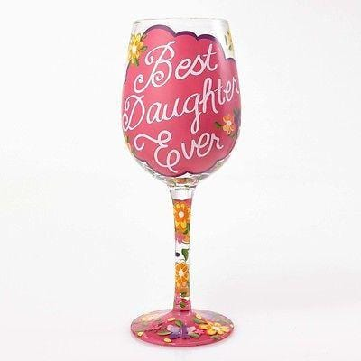 Lolita Wine Glasses Love My Daughter #4054094 NIB FREE SHIPPING 48 STATES