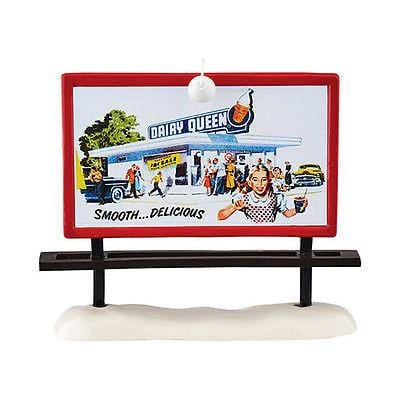 Dept 56 Snow Village 2015 DQ Billboard #4049034 NIB FREE SHIPPING 48 STATES