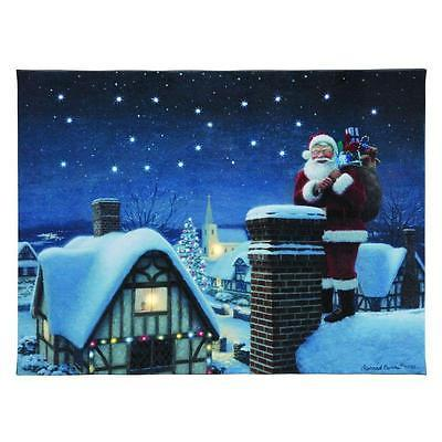 Mr. Christmas Illuminated Canvas Santa #68798 NIB FREE SHIPPING OFFER