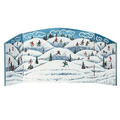 Dept 56 Winter Scene Bifold Backdrop (40x15) #52930 NEW