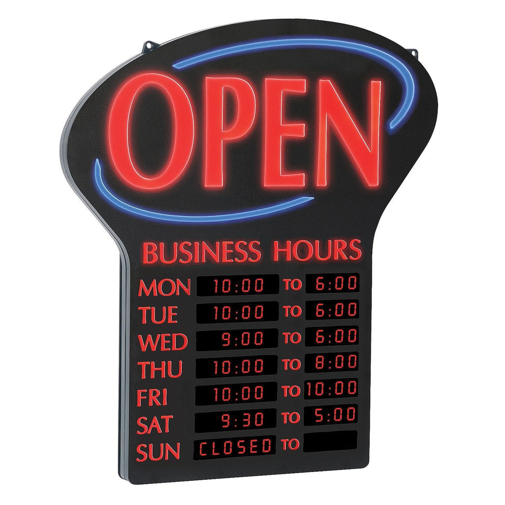 Newon LED Sign w/Programmable Business Hours & Flashing Effects & WARRANTY   Free Shipping 48 States