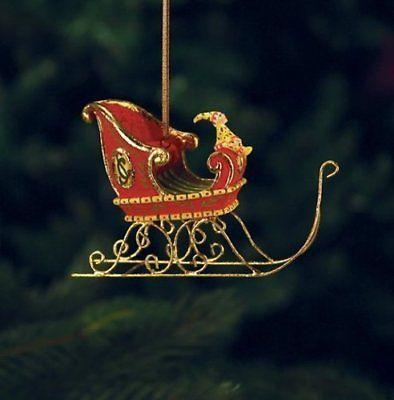 Patience Brewster Mini Dashaway Sleigh Ornament #08-30842 NIB FREE SHIP 48 STATE
