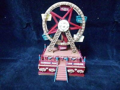 Mr. Christmas Mini Carnival Ferris Wheel Music Box #19700 NIB FREE SHIP 48 STATE
