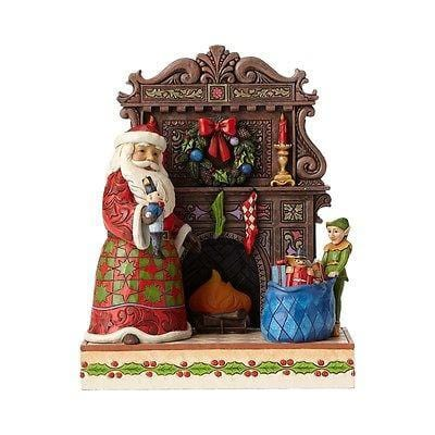 Jim Shore HWC 2016 Santa By Lighted Fireplace Masterpiece #4055047     FREE SHIP