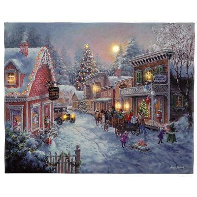 "Mr. Christmas Illuminart Canvas Good Old Days 16"" x 20"" #10815 NEW"