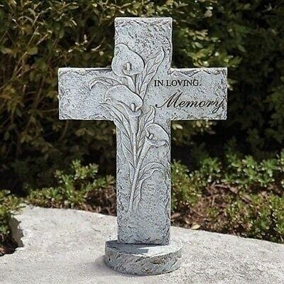 "Roman 16.25"" Memorial Garden Cross Bereavement #11817    Free Shipping 48 States"