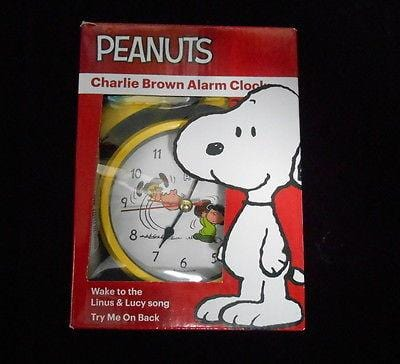 Peanuts Charlie Brown Alarm Clock NEW FREE SHIPPING 48 STATES