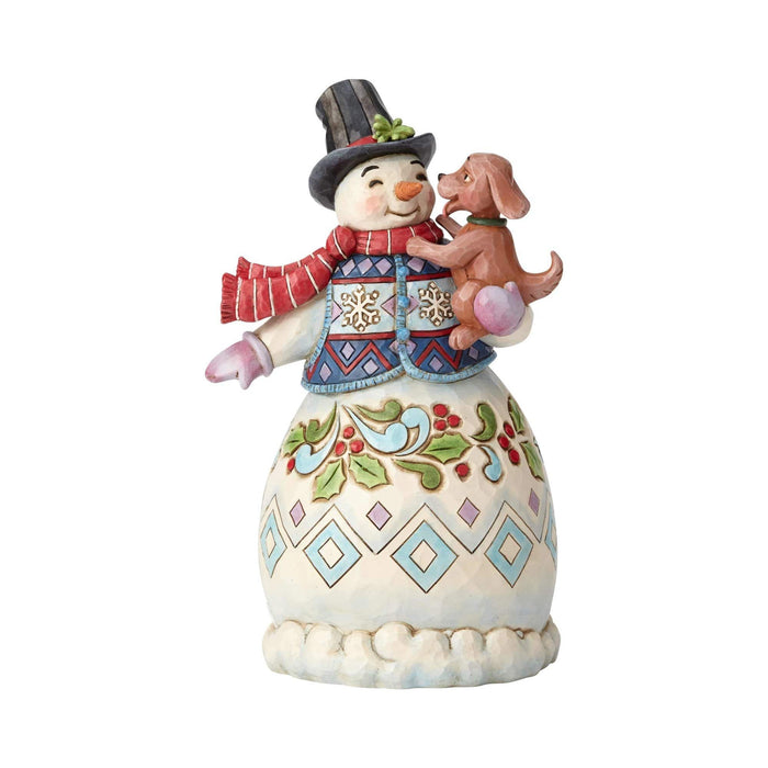 Jim Shore Snowman w/Friends    Free Shipping 48 States