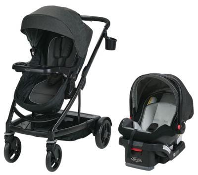 Graco UN02DU0 Travel System Expands From Single To Double Stroller      Free Shipping 48 States