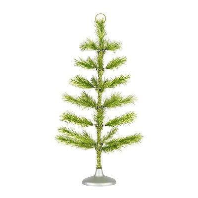 "Dept 56 2014 Green Tinsel Tree 36"" #4038920 NIB"