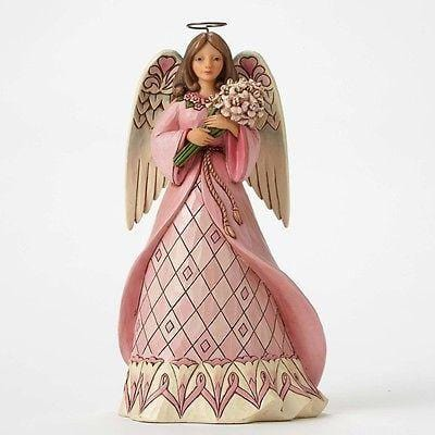 Jim Shore HWC 2015 Breast Cancer Angel #4049412 NIB FREE SHIPPING 48 STATES