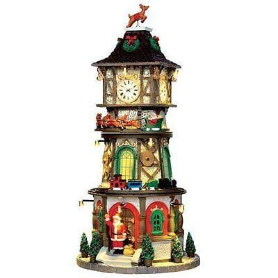 Lemax 2016 Christmas Clock Tower #45735    FREE SHIPPING 48 STATES