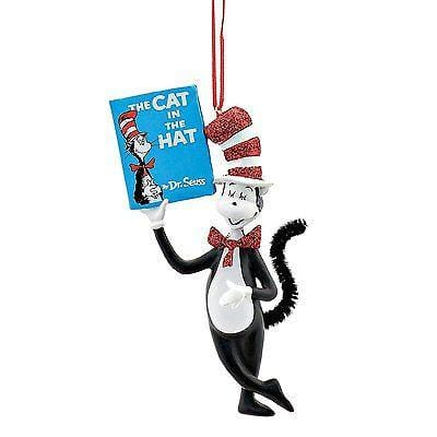 Dept 56 2017 Dr. Seuss Cat Holding Book #4053268    FREE SHIPPING 48 STATES