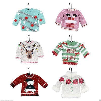 Dept 56 2014 Christmas Uglier Sweater Ornaments Set/6 #4039648 NEW FREE SHIP 48