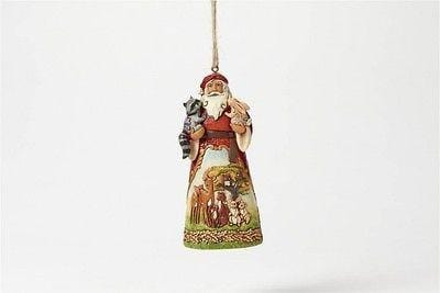 Jim Shore HWC 2016 Woodland Scene Santa Ornament #4049795      FREE SHIP 48 STATE
