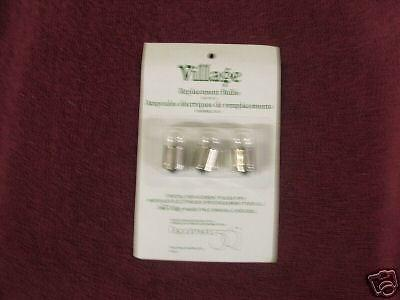 Dept 56 Replacement Bulbs Clear Set/3 #52707 FREE SHIP