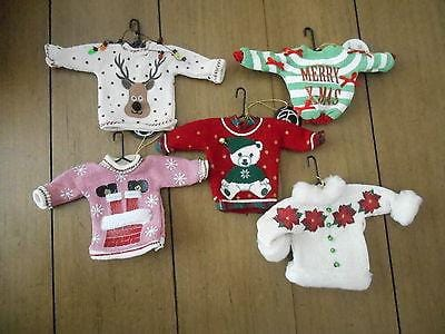 Dept 56 2014 Christmas Uglier Sweater Ornaments Set/5 #4039648     FREE SHIP 48