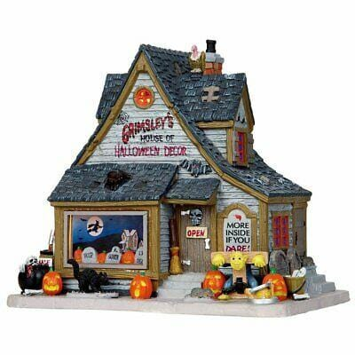 Lemax 2016 Grimsley's House Of Halloween Decor #15193B NEW NO Lemax Box. Is new and was re-issued by Lemax in limited quantities. Is encased in styrofoam, just no Lemax box.  Free Shipping