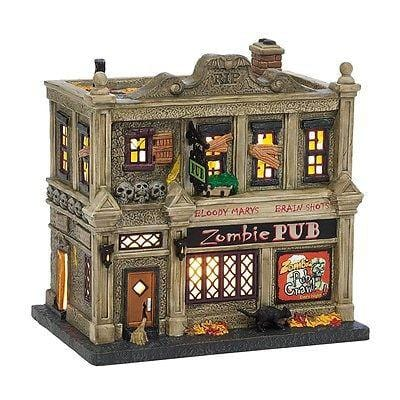 Dept 56 Halloween 2014 The Zombie Pub #4036594 NIB FREE SHIPPING 48 STATES