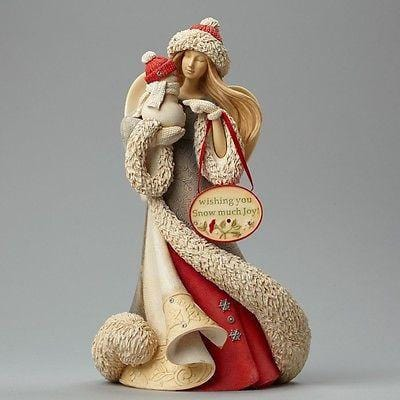 Heart Of Christmas 2015 Angel w/Snowman #4046834 NIB FREE SHIPPING 48 STATES