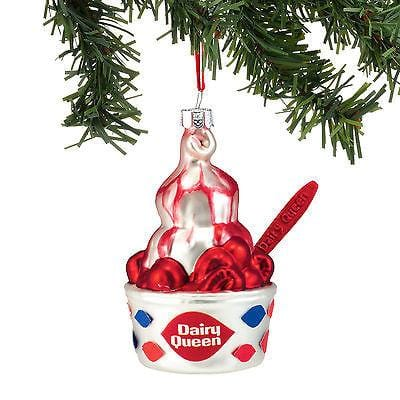 Dept 56 2016 DQ Strawberry Sundae Ornament #4051758    FREE SHIIPPING 48 STATES