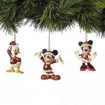 Jim Shore Disney Traditions 2015 Mickey, Minnie, & Donald Ornaments #4039086 NIB