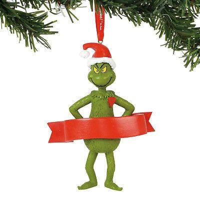Dept 56 Grinch 2018 Grinch Personalizable Ornament #6000306 NEW FREE SHIP 48 STA    2018